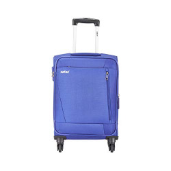 Safari Savage 77 Cms Polyester Blue Check-In 4 wheels  Soft Suitcase