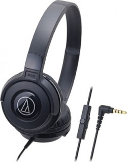 Audio Technica ATH-S100iS BK Wired Headset(Black, Wireless over the head)