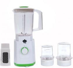 BMS Lifestyle MIXER JUICER Speed Blender Mixer Juicer System with Multi Purpose Use for Kitchen & FREE FRUIT FILTER JAR 400 Juicer Mixer Grinder(WHITE-GREEN, 3 Jars)