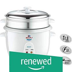 (Renewed) Bajaj RCX 7 1.8-Litre 550-Watt Rice Cooker,Multi-colour