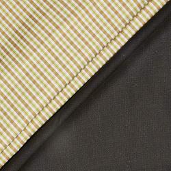 Raymond Men's Checkered Combo Fabric (Pack of 2) (KEC689-0059_Green_1.30 Mtr)
