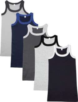 Luke and Lilly Vest For Boys Cotton Jersey(Multicolor, Pack of 5)
