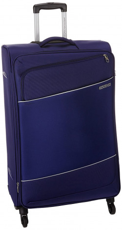 American Tourister Timor Polyester 78 cms Blue Softsided Check-in Luggage (AMT Timor Spinner 77CM - Blue)