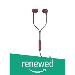 (Renewed) Infinity (JBL) Zip 20 in-Ear Deep Bass Headphones with Mic (Black & Red)