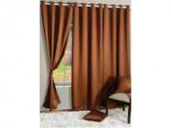 Swayam 228 cm (7 ft) Polyester Door Curtain Single Curtain(Printed, Brown) Rs. 579 - Flipkart