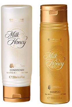 Oriflame Sweden Milk & Honey Gold Conditioner 200 ml and Shampoo 200 ml(2 Items in the set)