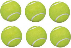 Happy Deals Tennis Ball pack of 6 Tennis Ball  (Pack of 6, Yellow)