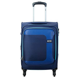 VIP Polyester 59 cms Blue Softsided Cabin Luggage (STCANW60IBL)