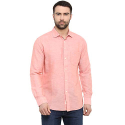 Red Tape Men's Solid Regular fit Casual Shirt (RSF8969A_Carrot S)