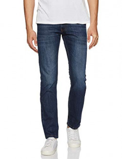 Amazon Brand - Symbol Men's Relaxed Fit Jeans (AD-RN-421_Dark Blue_28)