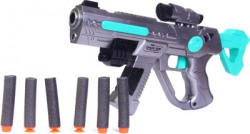 Mickleys Space weapon gun with soft bullets Guns & Darts(Multicolor)