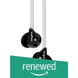 (Renewed) Veho VEP-003 360Z1 Noise Isolating Earphones with Anti-Tangle Cord (White)