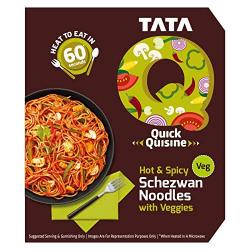 TATA Q Hot & Spicy Schezwan Noodles with Veggies, 290g