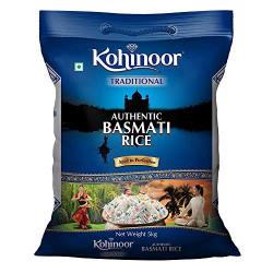 Kohinoor Traditional Authentic Aged Basmati Rice, 5 Kg