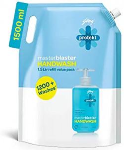 Godrej Protekt Masterblaster Germ Protection Liquid Handwash Refill, 1500ml 15% off