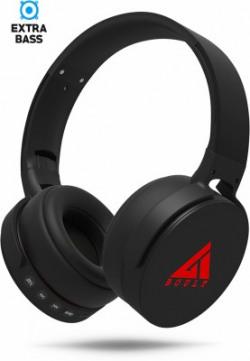 Boult Audio ProBass Q Bluetooth Headset(Black, Wireless over the head)