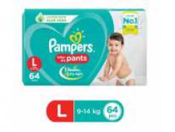 Pampers Baby-Dry Pants Diaper - L (64 Pieces) at Rs. 684 @ Flipkart