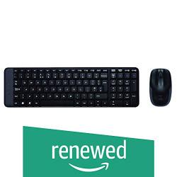 (Renewed) Logitech MK220 Wireless Keyboard and Mouse Combo (Black)