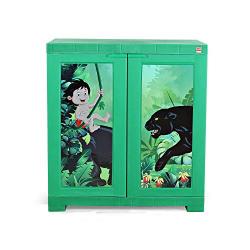 Cello Novelty Compact Mowgli Kids Plastic Cupboard(Green)