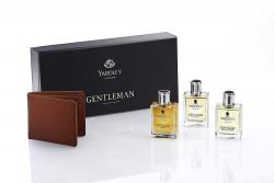 Yardley London Gentleman Perfumes (Eau de Toilette - EDT) Gift Pack with Free Wallet, 50ml Each (Classic, Adventure, Legend)
