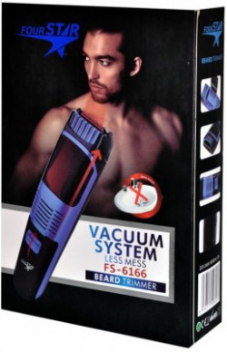 Four Star Vaccum TRIMMER 6166  Runtime: 40 min Trimmer for Men(Clear)