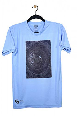 KIPA Hollow Zone Round Neck T-Shirt Sky Blue