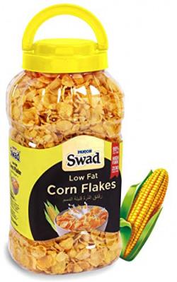 Swad Breakfast Cereal, Low Fat Corn Flakes (99% Fat Free, Zero Cholesterol, High Fibre Corn & Iron Rich) Jar,  270 g