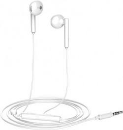 Honor AM115 Wired Headset(White, Wired in the ear)