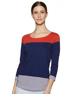 Max Women's Plain Regular Fit Top (MATEO9B_Dark Blue XS)