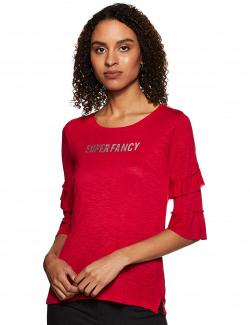 Max Women's Regular Fit Top (PA18KTOP05_Red XL)
