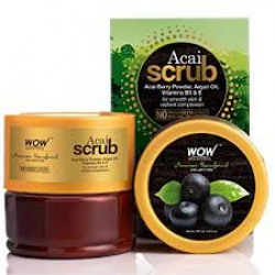 WOW Skin Science - Amazon Rainforest Collection - Rain Forest Acai Scrub - No Parabens, Mineral Oil, Silicones & Color - 200mL