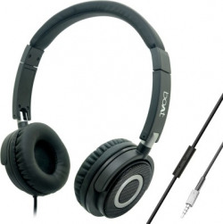 boAt BassHeads 900 Super Extra Bass Wired Headset(Carbon Black, Wired over the head)