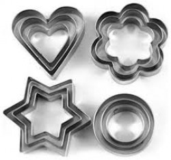 kudos Stainless Steel Biscuits Bread Cookies decoration Cutter With 4 Shape 12 pcs kudos Stainless Steel Biscuits Bread Cookies decoration Cutter With 4 Shape 12 pcs