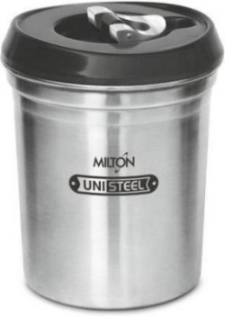 Milton STEEL AIR TITE JAR 750  - 750 ml Steel Grocery Container(Silver)
