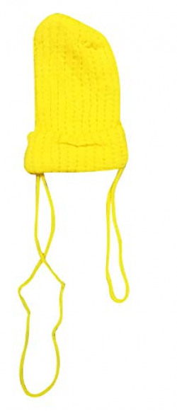 Zacharias Baby Cap Woolen Free Size Yellow 6-24 Months