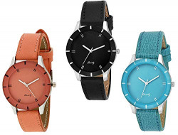 Casera Analogue Multi Color Dial Women's & Girl's Combo of 3 Watch -