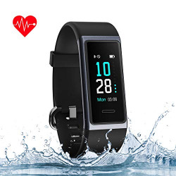 Muzili Fitness Band Smart Watch for Women Men Heart Rate Monitor IP68 Waterproof Fitness Tracker with Sleep Monitor Step Calorie Counter Stopwatch Call Message Notification