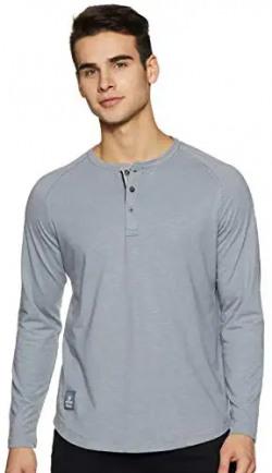 Amazon Brand - Inkast Denim Co. Men's Solid Slim Fit Full Sleeve T-Shirt