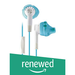 (Renewed) JBL Inspire 300 YB Noise Isolating in-Ear Sports Headphones for Women (Blue and White)