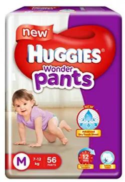 50% off: Huggies Wonder Pants Medium Size Diapers( 56 Count)