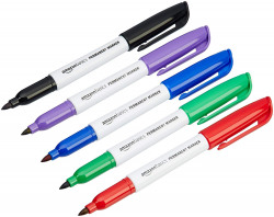 AmazonBasics Permanent Markers - Assorted - Pack of 12