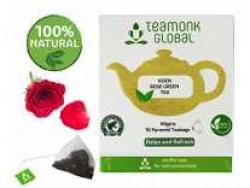 Teamonk Rose Green Tea, Long Leaf 10 Tea Bags Rs. 100 - Amazon