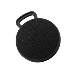 MYSWA 9 Tune 3W Bluetooth Fabric Signature Speaker Travel Hands-Free Wireless Mini Speaker Calling Support AUX Line and TF Card Slot with Mic (Black)