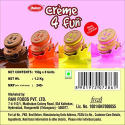Dukes Cream 4 Fun Biscuits Assorted, 8 x 150g