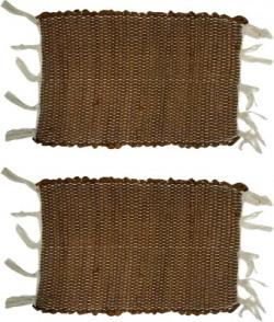 Status Cotton Door Mat(Brown, Small)