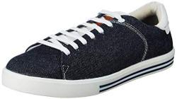 Amazon Brand - Inkast Denim Co. Men's Navy Denim Sneakers-10 UK (44 EU) (11 US) (AZ-IK-004)