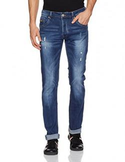 Alcott Men's Skinny Fit Jeans(5T1184UW479_C218 Blue Navy_54)