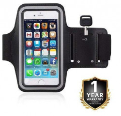 Renyke Adjustable Sports Running, Jogging, Gym, Yoga, Cycling Anti-Slip Ultra Light Weight Armband Mobile Holder Upto (4.5-6.0 Inches)
