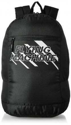 Flying Machine Fabric Black Laptop Backpack (FMLO8153)