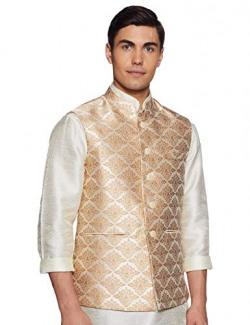 Raymond Men's Waistcoat (RIVX00119-F2_Light Fawn_42)